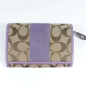 Coach Full Size Lavender Accent Wallet READ MORE!